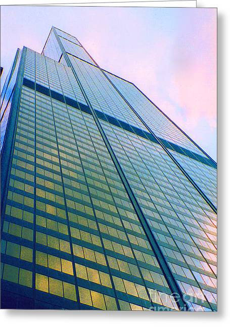 First Star Art Greeting Cards - Chicago Sears Willis Tower Greeting Card by First Star Art