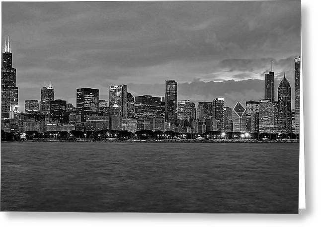 Skyline Photos Greeting Cards - Chicago Skyline Greeting Card by Jeff Lewis
