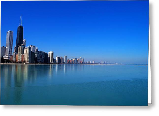 Chicago Skyline Greeting Card by Paul Ge
