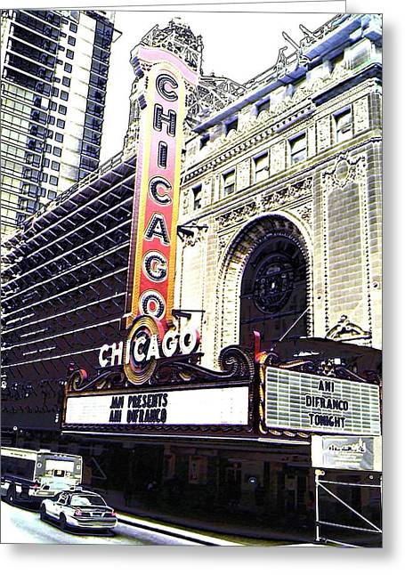 Ani Difranco Greeting Cards - Chicago Theater Greeting Card by C Connell