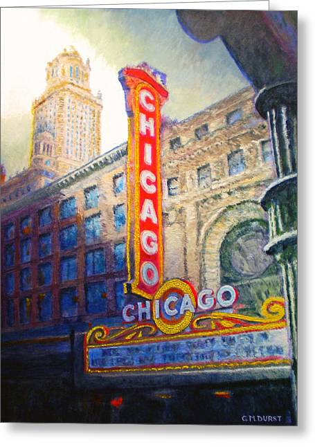 Michael Durst Greeting Cards - Chicago Theater Greeting Card by Michael Durst