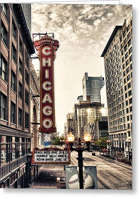 Marquee Greeting Cards - Chicago Theater Greeting Card by Tammy Wetzel