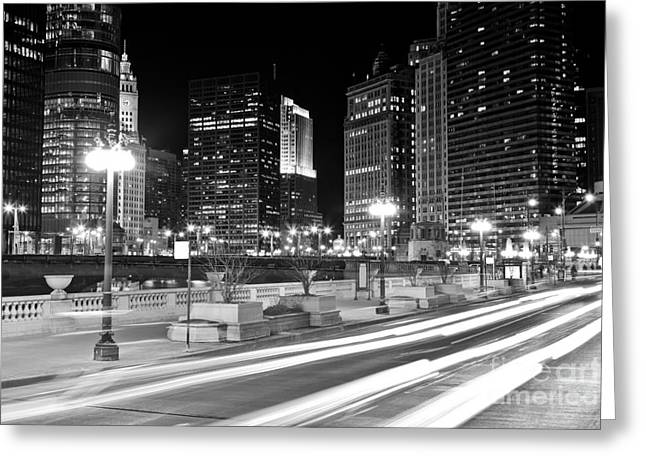 333 Greeting Cards - Chicago Wacker Drive at State Street Greeting Card by Paul Velgos