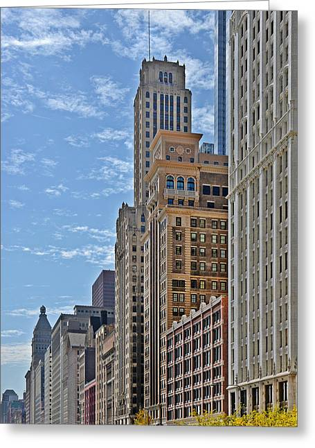 66 Greeting Cards - Chicago Willoughby Tower and 6 N Michigan Avenue Greeting Card by Christine Till
