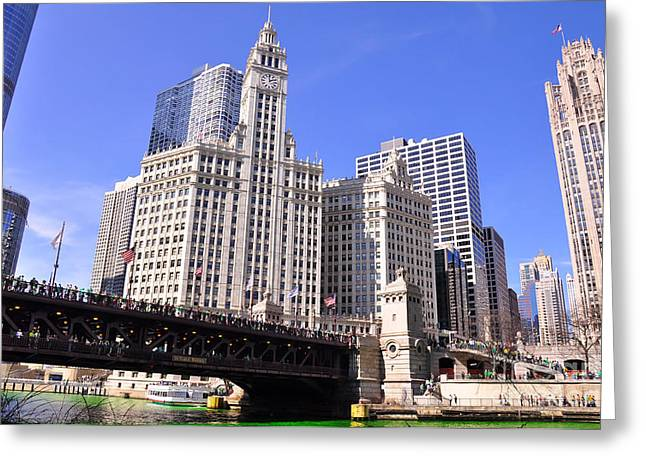 Patrick Willis Greeting Cards - Chicago Wrigley Building Greeting Card by Dejan Jovanovic