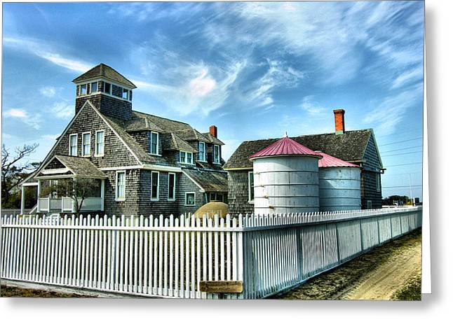 Rodanthe Greeting Cards - Chicamacomico Lifesaving Station I Greeting Card by Steven Ainsworth