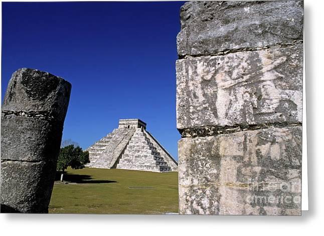 El Castillo Greeting Cards - Chichen Itza pyramid of Kukulcan Greeting Card by Sami Sarkis