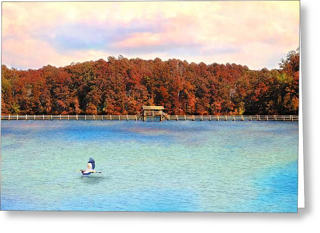 Chickasaw Bridge Greeting Card by Jai Johnson