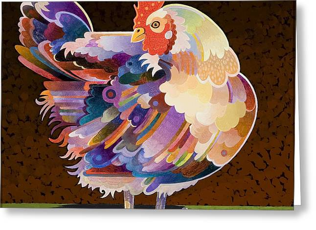 Chicken Greeting Cards - Chicken from Jamestown Greeting Card by Bob Coonts