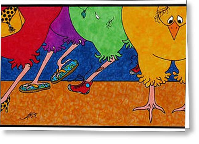 Chicken Walk Greeting Card by Michele Sleight
