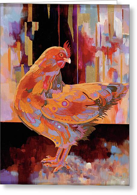 Realism Imagined Greeting Cards - Chickenscape I Greeting Card by Bob Coonts