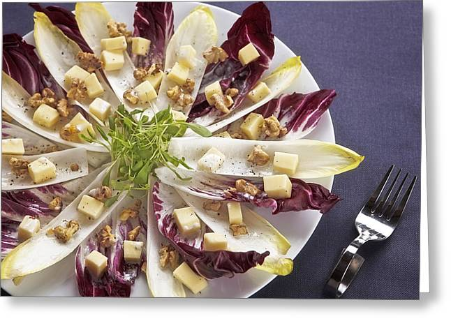Swiss Cheese Greeting Cards - Chicory Salad Greeting Card by Joana Kruse