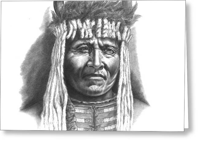 Chief Big Face Greeting Card by Lee Updike