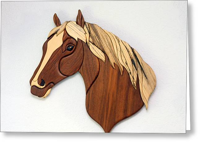 Intarsia Sculptures Greeting Cards - Chief Greeting Card by Bill Fugerer