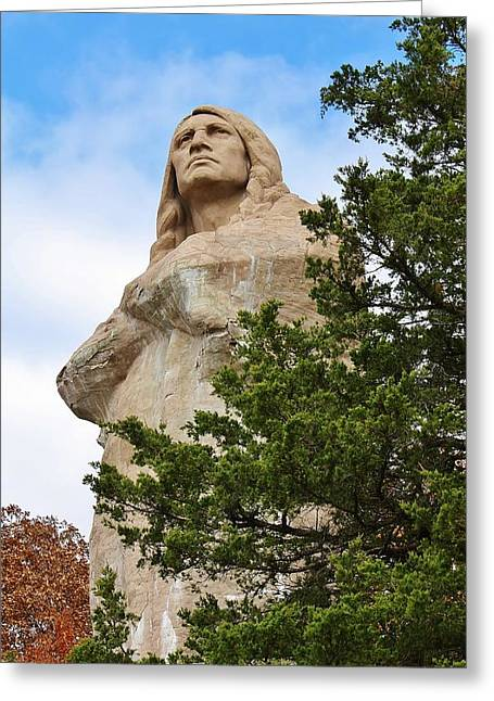 Lowden State Park Greeting Cards - Chief Blackhawk Statue Greeting Card by Bruce Bley
