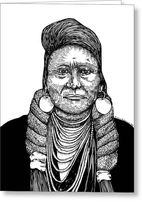 Native American Heroes Greeting Cards - Chief Joseph Greeting Card by Karl Addison