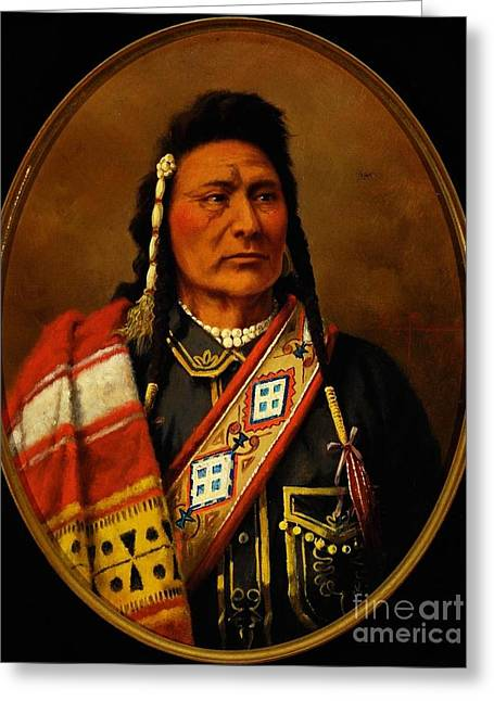 Chief Joseph Greeting Cards - Chief Joseph Greeting Card by Pg Reproductions