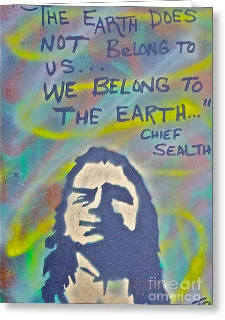 99 Percent Greeting Cards - Chief Sealth Greeting Card by Tony B Conscious