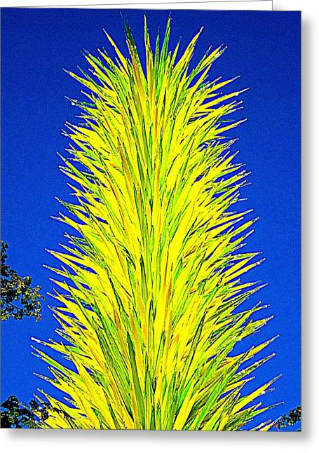 Glass Garden Greeting Cards - Chihuly Glass Garden 1 Greeting Card by Randall Weidner