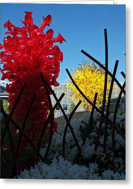 Glass Garden Greeting Cards - Chihuly Glass Garden 3 Greeting Card by Randall Weidner
