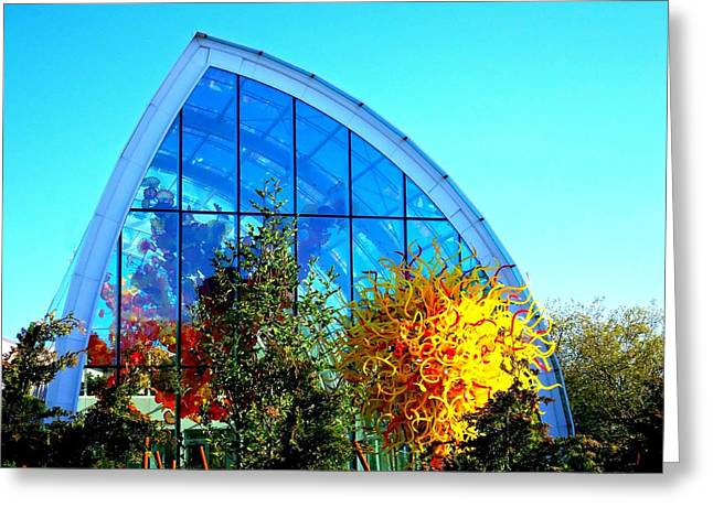 Glass Garden Greeting Cards - Chihuly Glass Garden 6 Greeting Card by Randall Weidner