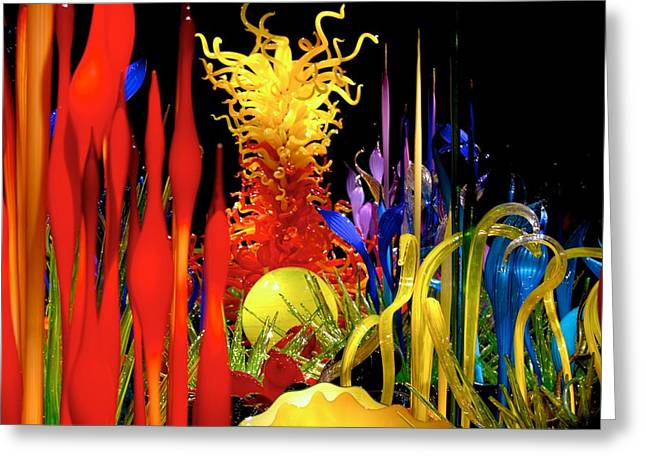 Glass Garden Greeting Cards - Chihuly Glass Garden Greeting Card by Eric Tressler