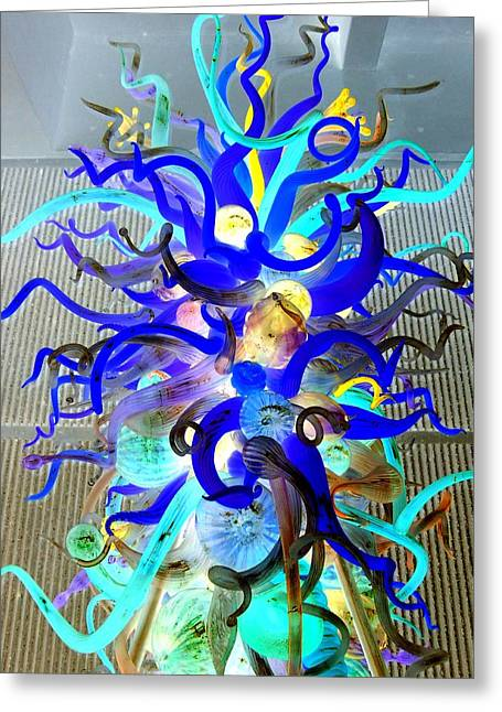 Glass Art Greeting Cards - Chihuly Invert Greeting Card by Randall Weidner