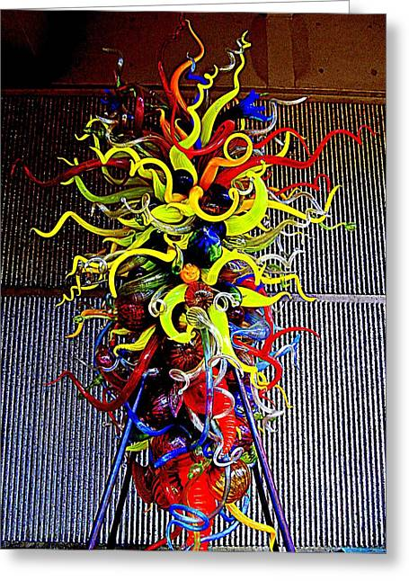 Art Museum Greeting Cards - Chihuly Palm Springs 1 Greeting Card by Randall Weidner