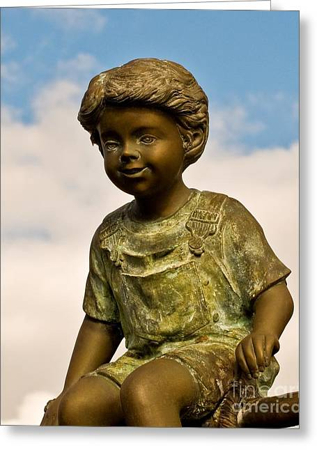 Child In The Clouds Greeting Card by Al Powell Photography USA