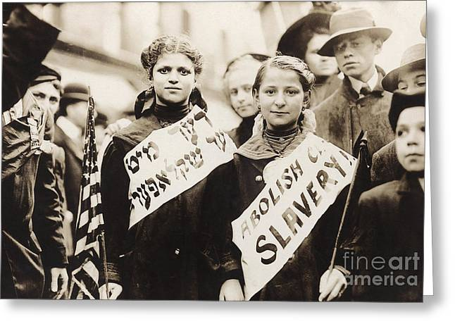Protest Greeting Cards - Child Labor Protest, 1909 Greeting Card by Granger