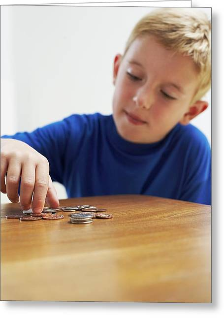 Child With Loose Change Greeting Card by Ian Boddy