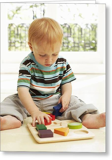 Child Care Greeting Cards - Childhood Development Greeting Card by Ian Boddy