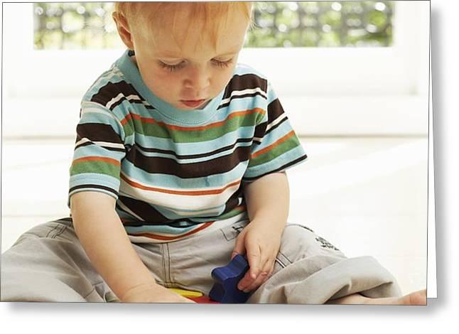 Childhood Development Greeting Card by Ian Boddy