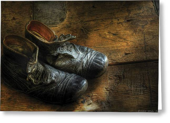 Customizable Greeting Cards - Children - Worn out shoes Greeting Card by Mike Savad