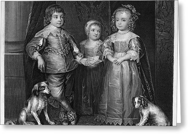 Recently Sold -  - Royal Family Arts Greeting Cards - Children Of Charles I Greeting Card by Granger