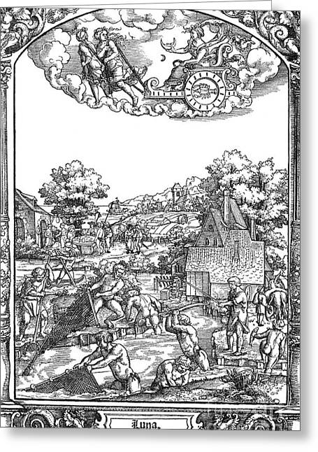Netting Greeting Cards - Children Of The Moon, 16th Century Greeting Card by Photo Researchers