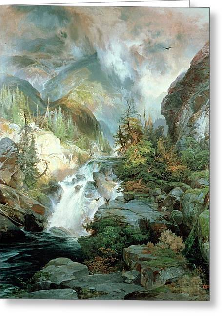 Whitewater Greeting Cards - Children of the Mountain Greeting Card by Thomas Moran