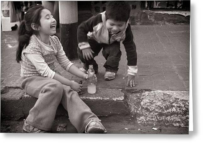Rire Greeting Cards - Children Greeting Card by Tarek Charara
