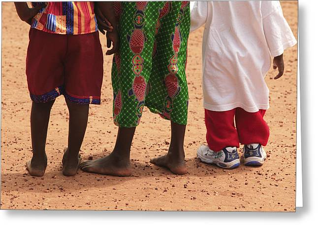 African Clothing Greeting Cards - Childrens Clothing Greeting Card by Mauro Fermariello
