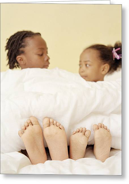 Child Care Greeting Cards - Childrens Feet Greeting Card by Ian Boddy