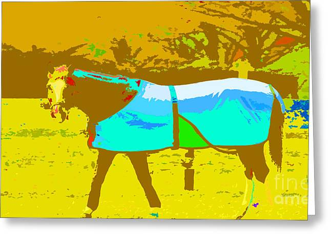Children's Horse Art Print Greeting Card by ArtyZen Studios
