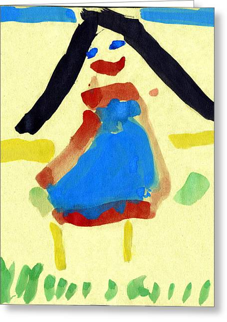 Child's Painting Greeting Card by Sheila Terry