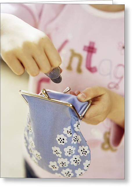 3 Year Old Girl Greeting Cards - Childs Play Greeting Card by Ian Boddy