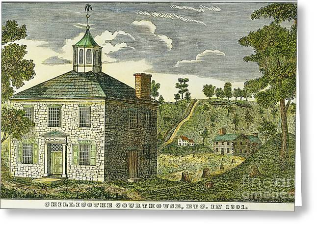 1801 Greeting Cards - Chillicothe: Courthouse Greeting Card by Granger