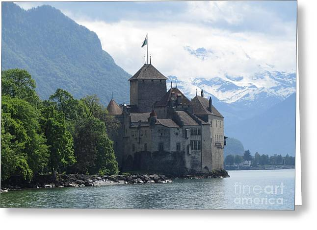 Chillon Greeting Cards - Chillon Castle Greeting Card by Barbara Saccente
