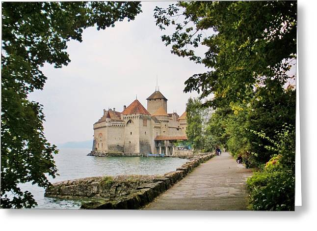 Chillon Greeting Cards - Chillon Castle Greeting Card by Marilyn Dunlap