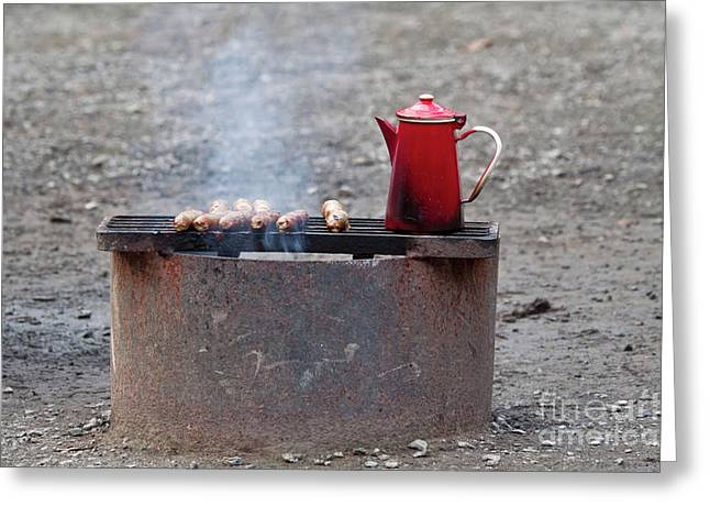 Firepit Greeting Cards - Chilly Morning Greeting Card by Louise Heusinkveld