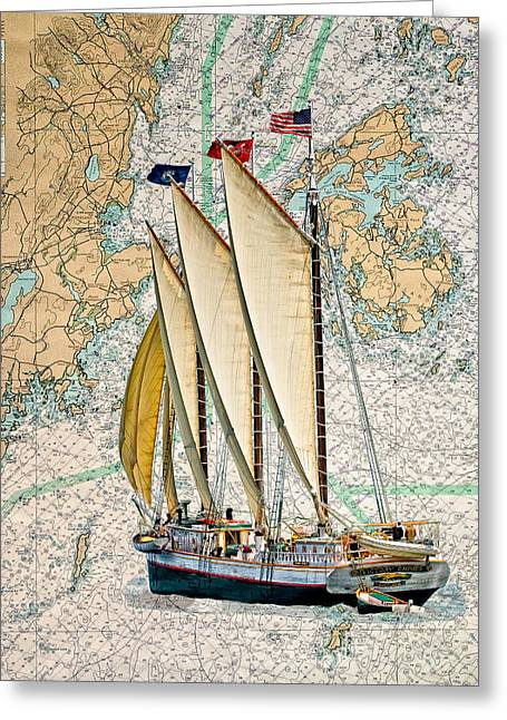 Schooner Greeting Cards - Chimes and chart Greeting Card by Fred LeBlanc