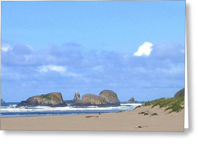 Chimneys Of Cannon Beach Greeting Card by Will Borden