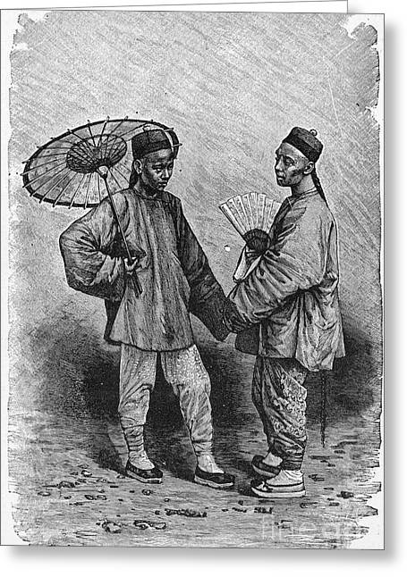 Clerk Greeting Cards - CHINA: CLERKS, 19th CENTURY Greeting Card by Granger